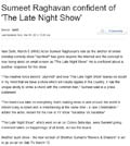 Samachar.com : Sumeet Raghavan confident of ''The Late Night Show''